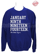 Phi Beta Sigma Founding Date Sweatshirt, Royal Blue - EMBROIDERED with Lifetime Guarantee