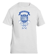 Phi Beta Sigma School Daze Screen Printed T-Shirt, White