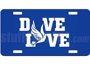 Phi Beta Sigma/Zeta Phi Beta Dove Love Dye-Sublimated License Plate on Royal BLue Background
