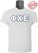 Phi Chi Epsilon Greek Letter T-Shirt, Gray - EMBROIDERED with Lifetime Guarantee