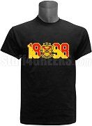 Phi Mu Alpha Screen Printed T-Shirt with Crest and Founding Year, Black