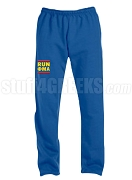 Phi Mu Alpha Run DMC Screen Printed Sweatpants, Royal Blue (AB)