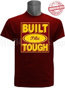 Built Tough Pi Kappa Alpha T-Shirt, Crimson - EMBROIDERED with Lifetime Guarantee