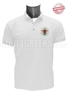 Pi Kappa Alpha Polo Shirt with Crest, White