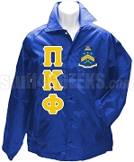 Pi Kappa Phi Greek Letter Line Jacket with Crest, Blue