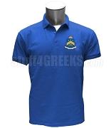 Pi Kappa Phi Polo Shirt with Crest, Royal Blue
