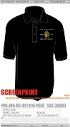 Alpha Phi Alpha B.A.S.S. Twenty Screen Printed Cool & Dry Polo, Black