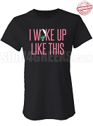 I Woke Up Like This AKA Fitted T-Shirt, Black - EMBROIDERED with Lifetime Guarantee