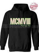 Alpha Kappa Alpha Roman Numeral Founding Year Pullover Hoodie - Lifetime Embroidery Guarantee