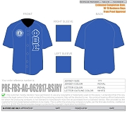 Phi Beta Sigma Greek Letter Baseball Jersey with Alpha Gamma Chapter Seal, Royal Blue (TW) - EMBROIDERED WITH LIFETIME GUARANTEE