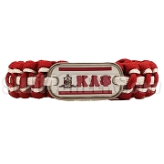 Kappa Alpha Psi Braided Sports Bracelet, Red/White - Allow 4-6 Weeks Production Time
