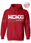 Kappa Alpha Psi Roman Numeral Founding Year Pullover Hoodie - Lifetime Embroidery Guarantee