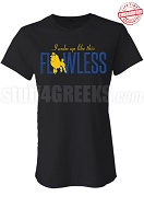 Flawless Sigma Gamma Rho Fitted T-Shirt, Black - EMBROIDERED with Lifetime Guarantee