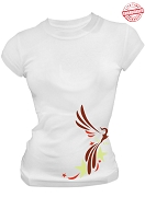 Alpha Sigma Alpha Phoenix T-Shirt, White - EMBROIDERED with Lifetime Guarantee