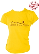 Alpha Sigma Alpha Woman Of Poise And Purpose Stitched T-Shirt, Gold - EMBROIDERED with Lifetime Guarantee