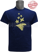 Sigma Delta Tau Torch  T-Shirt, Navy EMBROIDERED with Lifetime Guarantee