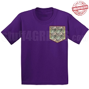 Camo Faux Pocket T-shirt - EMBROIDERED with Lifetime Guarantee