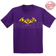Omega Psi Phi Fratman T-Shirt with Greek Letters, Purple - EMBROIDERED with Lifetime Guarantee