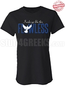 Flawless Zeta Phi Beta Fitted T-Shirt, Black - EMBROIDERED with Lifetime Guarantee