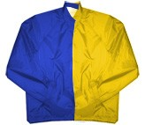 Clearance: Royal Blue/Gold Two-Tone Coaches Jacket, Size 4XL, Blank