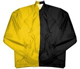 Clearance: Yellow Gold/Black Two-Tone Coaches Jacket, Size 4XL, Blank