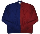 Clearance: Navy Blue/Burgundy Two-Tone Coaches Jacket, Size MEDIUM, Blank
