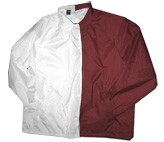 Clearance: White/Burgundy Two-Tone Coaches Jacket, Size MEDIUM, Blank