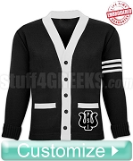 Fully Customizable Big-Letter Varsity Cardigan with Optional Stripes (RN-SW110 ) - Embroidered with Lifetime Guarantee