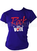 Rock The Vote Screen Printed Election T-Shirt, Royal Blue, Red, & White