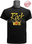 Rock The Vote Election T-Shirt, Black - EMBROIDERED with Lifetime Guarantee
