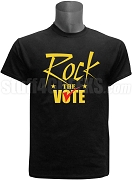 Rock The Vote Screen Printed Election T-Shirt, Black