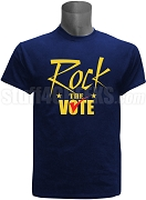 Rock The Vote Screen Printed Election T-Shirt, Navy Blue