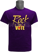 Rock The Vote Screen Printed Election T-Shirt, Purple