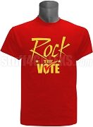Rock The Vote Screen Printed Election T-Shirt, Red