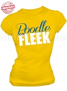 Sigma Gamma Rho, Poodle on Fleek T-Shirt, Gold - EMBROIDERED with Lifetime Guarantee