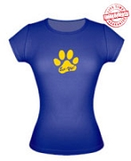 Paw (Eee-Yip!) Ladies Fitted Tee - EMBROIDERED with Lifetime Guarantee