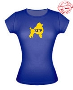 SGRho Poodle Ladies Fitted Tee - EMBROIDERED with Lifetime Guarantee