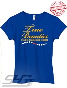 True Beauties Wear 10 Pearls and 2 Rubies, Royal - EMBROIDERED with Lifetime Guarantee