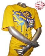 SGRho Metallic Vintage T-Shirt, Gold - EMBROIDERED with Lifetime Guarantee