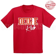 Deuce Club T-Shirt, Red/White - EMBROIDERED with Lifetime Guarantee