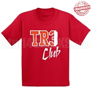 Tre Club T-Shirt, Red/White - EMBROIDERED with Lifetime Guarantee