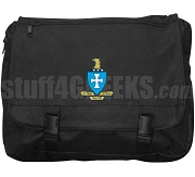 Sigma Chi Laptop Bag with Crest, Black