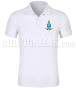 Sigma Chi Polo Shirt with Crest, White