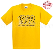 Last Created Best Designed T-Shirt, Gold - EMBROIDERED with Lifetime Guarantee