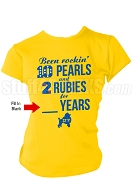 Sigma Gamma Rho Rocking Screen Printed Anniversary T-Shirt, Gold