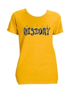 Sigma Gamma Rho Black History Screen Printed T-Shirt, Gold