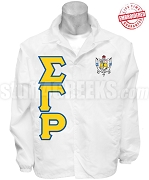 Sigma Gamma Rho Greek Letter Line Jacket with Crest, White