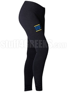 Sigma Gamma Rho Run DMC Screen Printed Athletic Leggings, Black (BC)