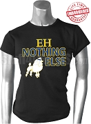 EH Nothing Else T-Shirt with Poodle, Black - EMBROIDERED with Lifetime Guarantee