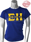 EH Established 1979 T-Shirt, Royal Blue - EMBROIDERED with Lifetime Guarantee